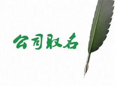 深圳公司注册公司起名的原则和流程